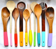 painted wooden spoons