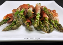 roasted aspargus with prosciutto
