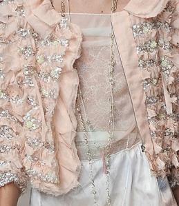 ruffle pink jacket