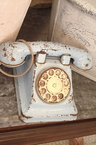 telephone blue vintage