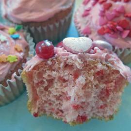 valentine cupcake eaten