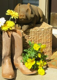 BBQ blog door pig