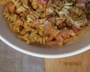 creamy ham & pasta