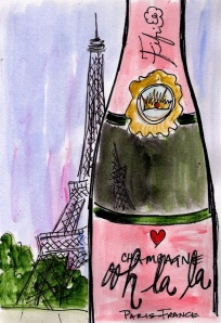 champagne eiffel tower
