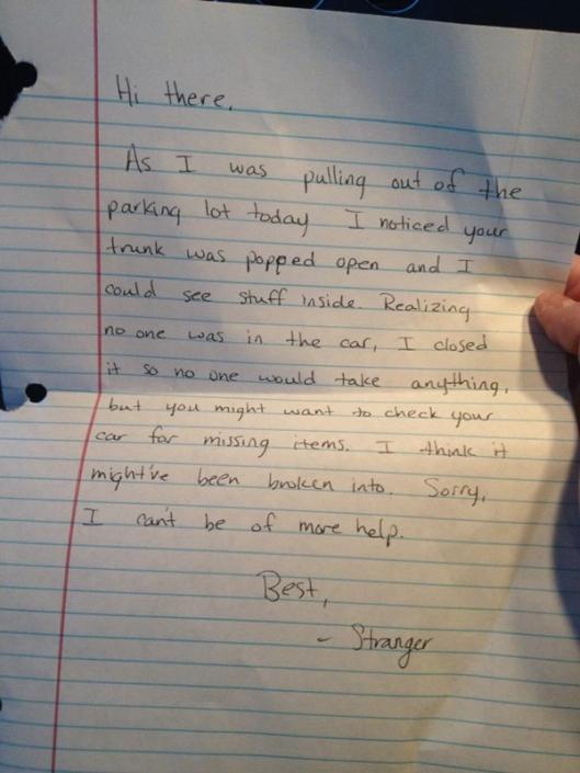 letter of kindness