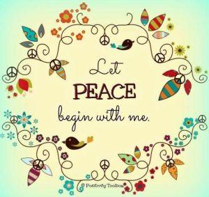let peace