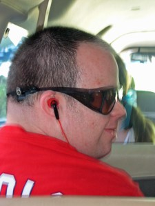 Mike in headphones
