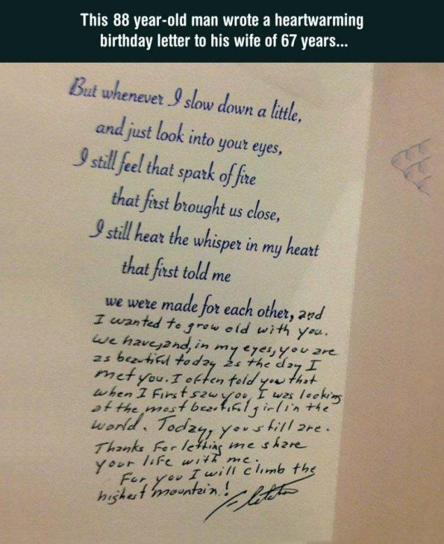 old man's letter