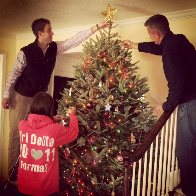 decorating Christmas tree 2014
